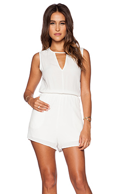 ISLA & LULU California Palms Playsuit in White