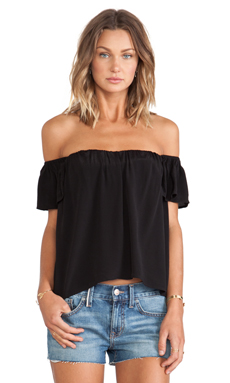 ISLA & LULU The Coolest Girl Top in Black