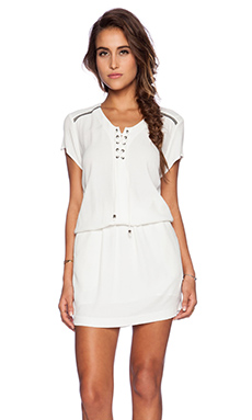 IKKS Tie Dress in White