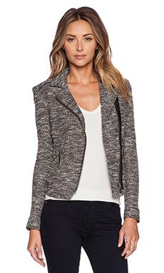 IKKS Paris Zip Jacket in Black & White