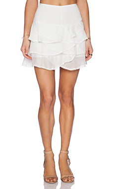 IKKS Ruffle Skirt in White