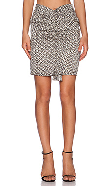 IKKS Paris High Waisted Skirt in Black & White