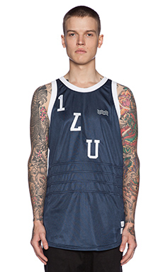 I Love Ugly Basketball Jersey in Navy