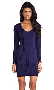 Indah Beale Long Sleeve Mini Dress in Streak Purple