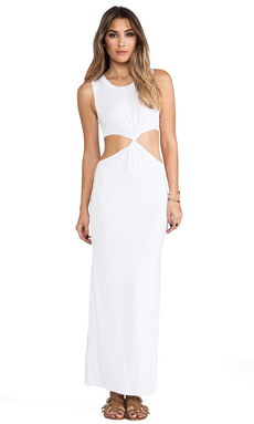 Indah Zombie Cutout Maxi in White