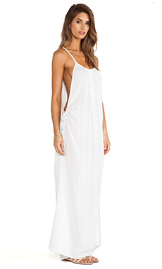 Indah Robin Maxi Dress in White