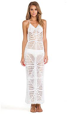 Indah Syra Crochet Maxi Dress in White