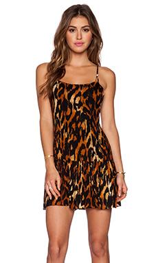 Indah Karima Drop Waist Mini Dress in Cheetah