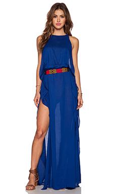 Indah Twiga Open Side Maxi Dress in Blue
