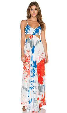 Indah Innocence Cutaway Maxi Dress in Masai