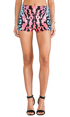 Indah Fizz High Waisted Sequin Short in Ink Fade Pink