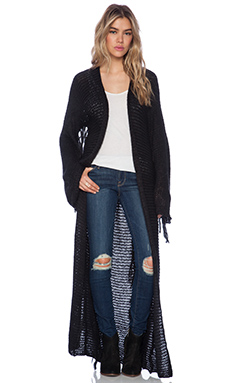 Indah Lush Fringe Duster in Black