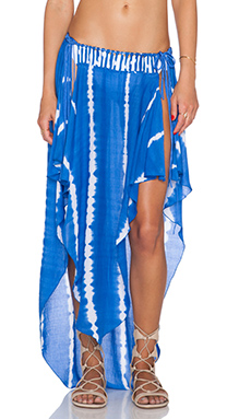 Indah Jamila Petal Maxi Skirt in Garis Blue