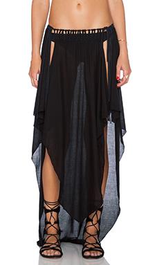 Indah Jamila Petal Maxi Skirt in Black