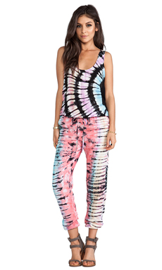 Indah Rhodes Simple Tank Jumpsuit in Tie Dye