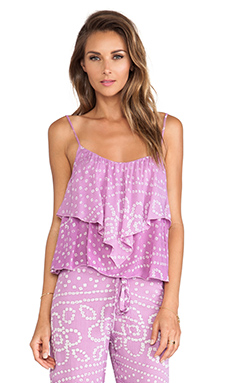 Indah X REVOLVE Plumeria Open Flutter Back Camisole in India Orchid