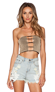 Indah Sea Strapless Top in Taupe