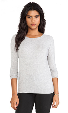 Inhabit Cashmere Crew Sweater in Sterling