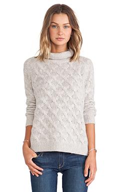 Inhabit Cashmere Turtleneck Sweater in Sterling