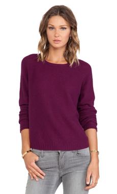 Inhabit Whisper Cashmere Crewneck Sweater in Beetroot