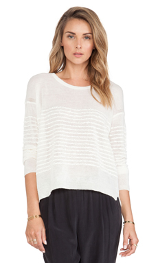 Inhabit Wool Mix Crewneck Sweater in Ivory