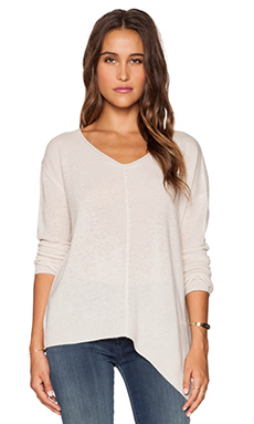 Inhabit Cashmere V Neck Sweater in Fawn