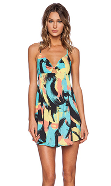 Insight Cross Back Dress in Brush Camo Pop
