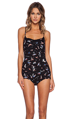 Insight Frill Romper in Apocalypso Black
