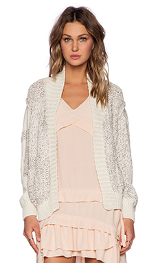 IRO Yolane Cardigan in Light Pink Multico