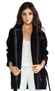 IRO Marily Belted Jacket in Noir