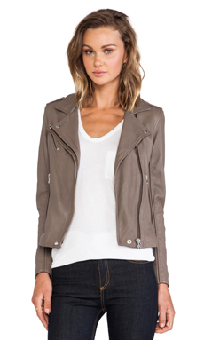 IRO Tara Moto Jacket in Dark Brown