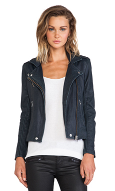IRO Tara Moto Jacket in Navy