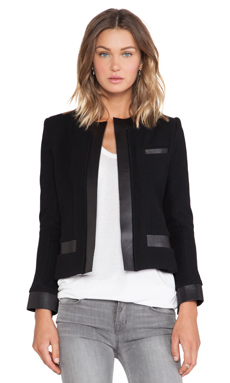 IRO Clem Leather Jacket in Black
