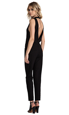 IRO Gennia Open Back Jumpsuit in Black