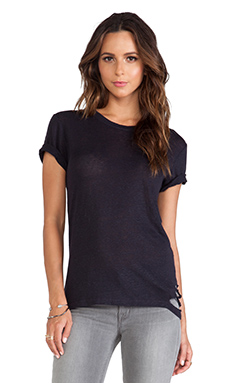 IRO Poppy Tee in Dark Navy