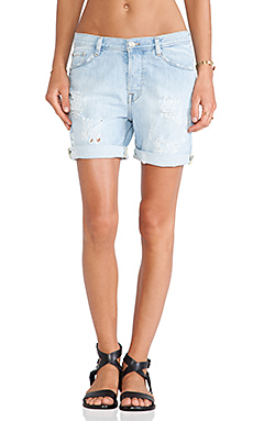 IRO . JEANS Abby Boyfriend Short in Bleached Blue