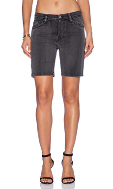 IRO . JEANS Jane Short in Black.Dark Grey