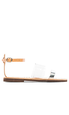 isapera Yialos Sandal in Silver