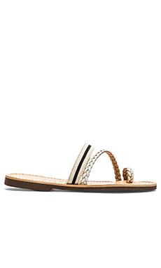 isapera Peonia Sandal in Stripe