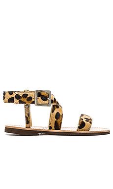 isapera St. John Faux Fur Sandal in Leopard