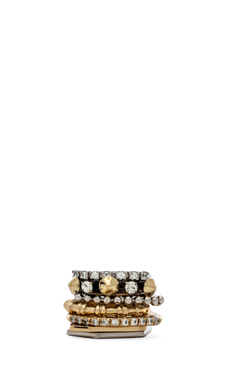 Iosselliani Ring in Gold & Crystal