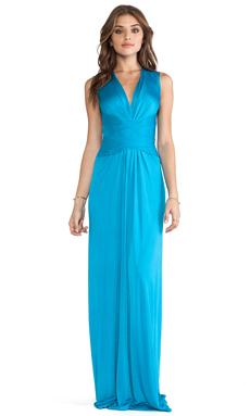 Issa Sleeveless Wrap Maxi Dress in Lapis