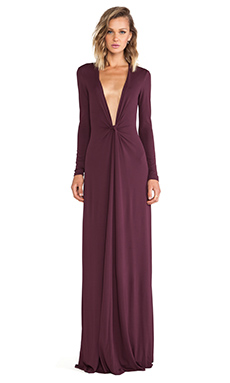 Issa Cilla Maxi Dress in Bordeaux