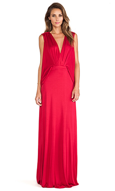 Issa Lucia Open Back Maxi Dress in Raspberry