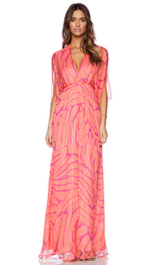 Issa Goddess Maxi Dress in Coral