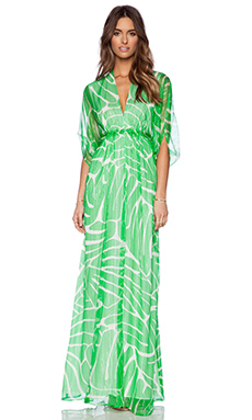 Issa Goddess Maxi Dress in Green Glow