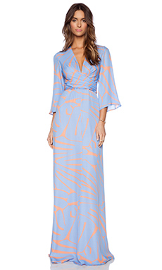 Issa Francesca Maxi Dress in Cornflower