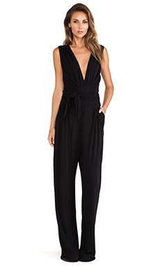 Issa Rene Wrap Waist Jumpsuit in Midnight