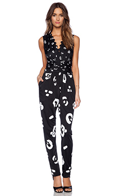 Issa Rousso Jumpsuit in Black Combo