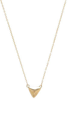 Jacquie Aiche Mini Pyramid Necklace in Gold